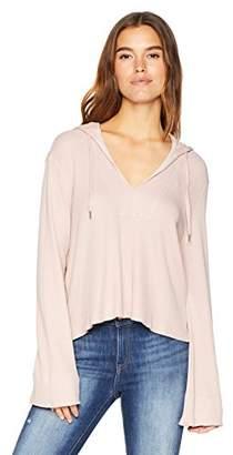 Splendid Women's Long Sleeve Pullover Thermal Hoodie