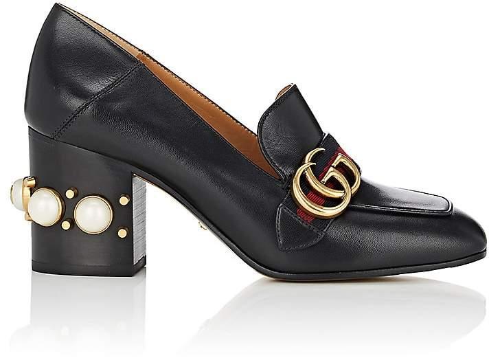 Gucci Women's Peyton Leather Pumps