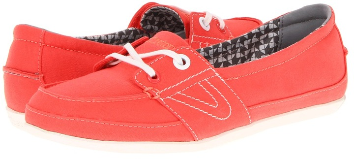 Tretorn Signe Canvas W (Hot Coral) - Footwear