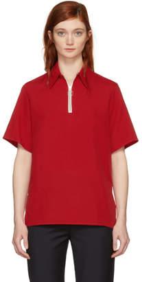 Harmony Red Thelma Zip Polo