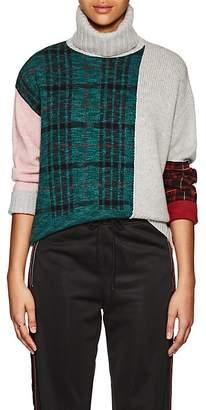 TOMORROWLAND Women's Colorblocked Wool-Blend Turtleneck Sweater