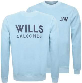Jack Wills Fairford Graphic Sweatshirt Blue
