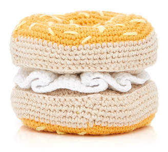 Ware of Dog Hand Knit Bagel Toy