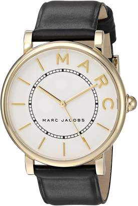 Marc Jacobs Women's 'Roxy' Quartz Stainless Steel and Leather Casual Watch, Color Black (Model: MJ1532)