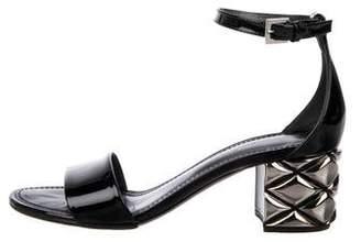 Louis Vuitton Patent Leather Ankle Strap Sandals