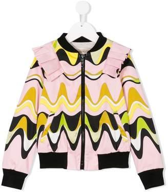 Emilio Pucci Junior waves print bomber jacket