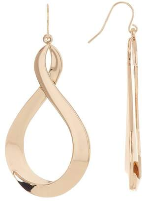 Halogen Twisted Metal Teardrop Earrings