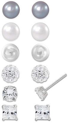 FINE JEWELRY Sterling Silver 6-pr. Earring Set