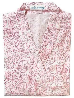 India Amory Pink Peony Robe