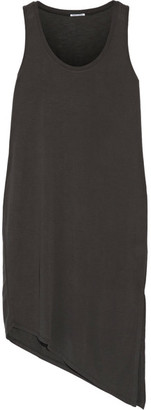 Splendid - Asymmetric Slub Modal-blend Dress - Charcoal $185 thestylecure.com