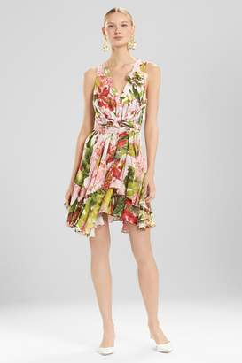 Natori Josie Paradise Floral Dress With Corsage