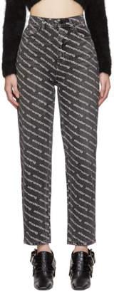 Alexander Wang Grey Logo Print Bluff Jeans