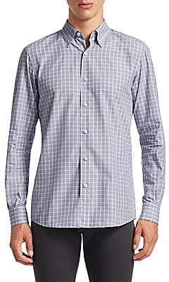 Ermenegildo Zegna Men's Slim Fit Plaid Button-Down Shirt
