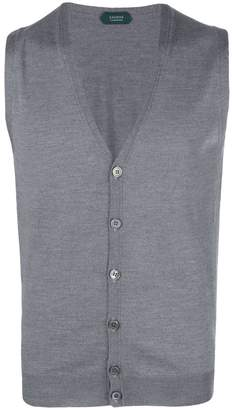 Zanone sleeveless cardigan