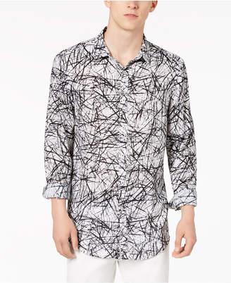 INC International Concepts I.n.c. Men's Cross-Hatch Roll-Tab Shirt, Only at Macy's