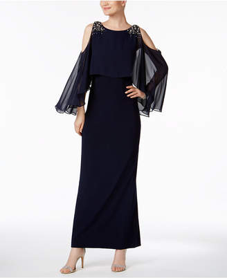 Vince Camuto (ヴィンス カムート) - Vince Camuto Cold-Shoulder Capelet Gown