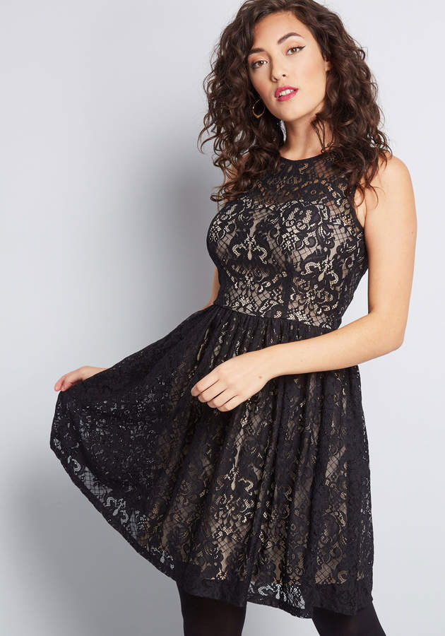 Mystic, Inc. Lace to the Finish A-Line Dress