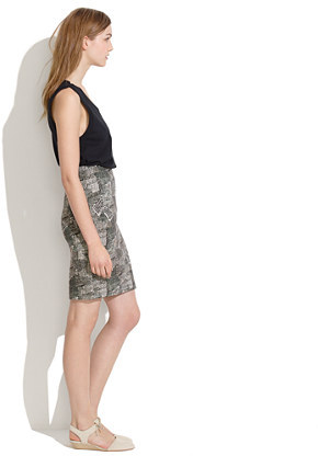 Madewell Downtown Skirt in Batik