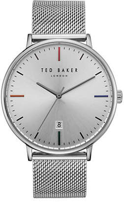 Ted Baker Norton Silvertone Stainless Steel Analog Watch
