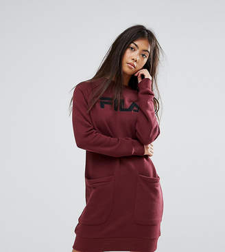 Fila Petite Oversized Sweater Dress With Logo And Pocket Detail