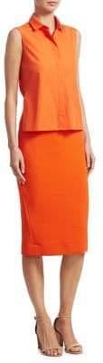 Akris Punto Trompe L'Oeil Pencil Dress