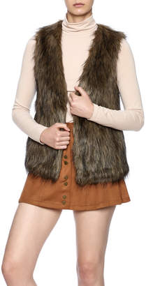 Jack by BB Dakota Faux Fur Vest $62 thestylecure.com