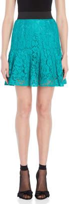 Dolce & Gabbana Teal Lace Mini Skirt