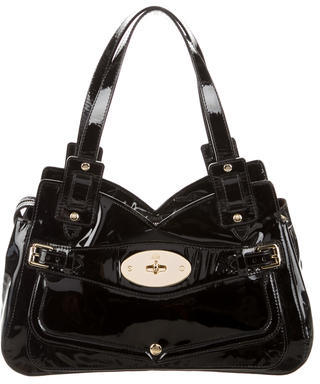 Mulberry Patent Leather Shoulder Bag $275 thestylecure.com