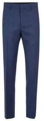 BOSS Hugo Slim-fit pants in mohair-look virgin wool 28R Open Blue