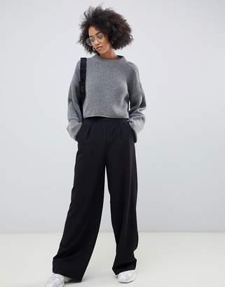 Asos Design DESIGN wide leg trousers with pleat detail