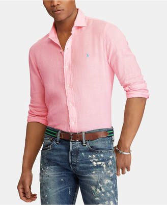 Polo Ralph Lauren Pink Fitted Men s Shirts - ShopStyle b0564bf50d32f
