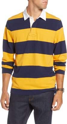 1901 Slub Stripe Long Sleeve Rugby Polo