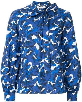 MSGM feather print blouse