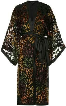 Saloni rainbow leopard dress