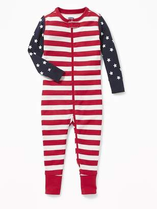 Old Navy Flag-Print Jersey One-Piece Sleeper for Toddler & Baby