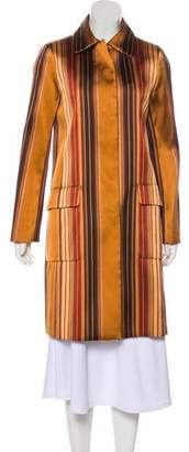 Gucci Striped Knee-Length Coat w/ Tags