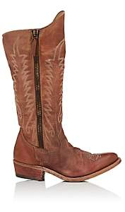 Golden Goose Women's Distressed Leather Knee Boots - Brown