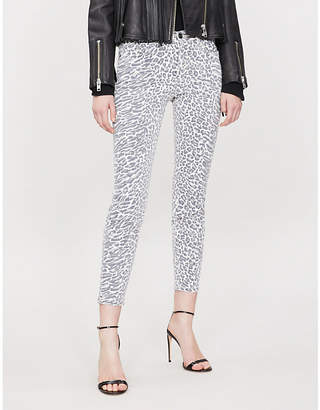Current/Elliott The Stiletto skinny high-rise leopard-print jeans