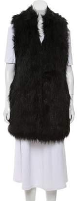 Michael Kors Faux Fur Longline Vest