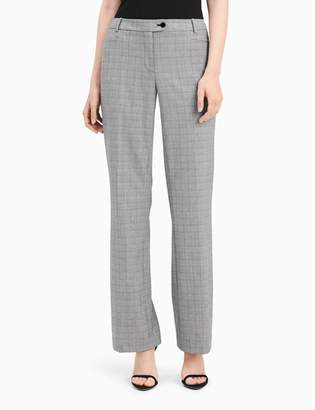 Calvin Klein straight fit glen plaid suit pants