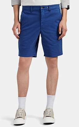 Rag & Bone Men's Cotton Flat-Front Shorts - Blue