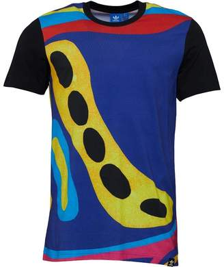 adidas Mens Archive Catalog T-Shirt Blue/Multicolour