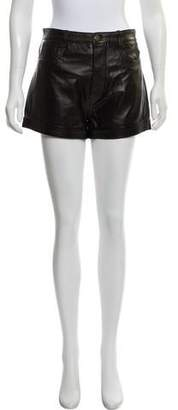RED Valentino High-Rise Leather Shorts w/ Tags