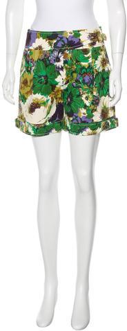BlumarineBlumarine Floral Print Belted Shorts w/ Tags