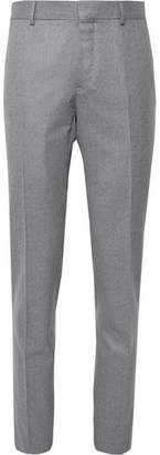 Caruso Grey Slim-Fit Mélange Wool Trousers
