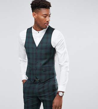 Harry Brown TALL Skinny Fit Plaid Vest