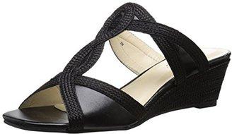 Annie Shoes Women's ADEA Wedge Sandal $58 thestylecure.com