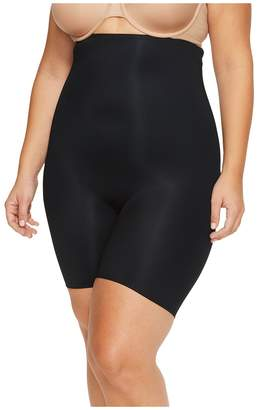Spanx Plus Size Power Conceal-Her High-Waisted Mid Thigh Shorts Women's Underwear