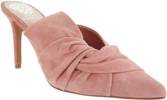 Vince Camuto Suede Slip-On Heeled Mules - Amillada