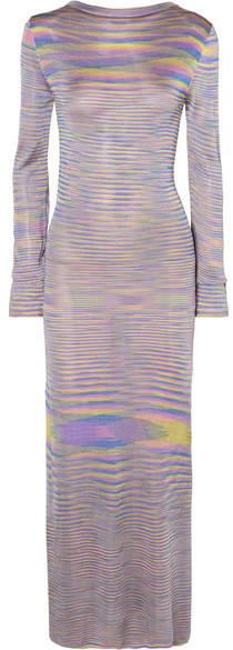 Georgia Alice - Penelope Knitted Midi Dress - Lilac
